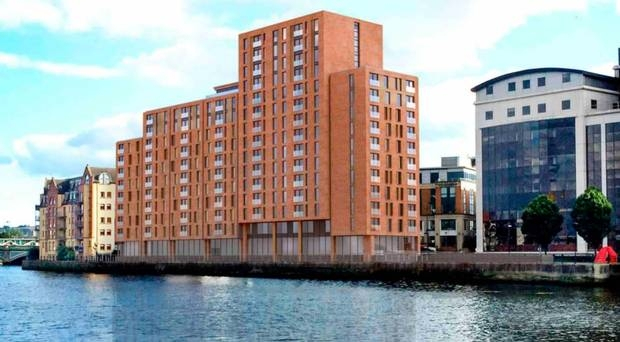 Developer submits plans to build new apartment complex along the Lagan